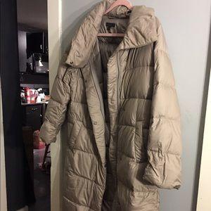 Gray Uniqlo down puffer jacket  sz M